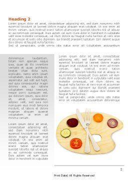 Healthy Diet Word Template, First Inner Page, 08383, Careers/Industry — PoweredTemplate.com