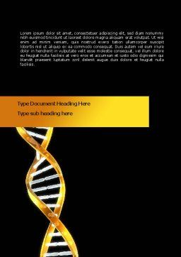 Gold DNA String Word Template, Cover Page, 08385, Medical — PoweredTemplate.com