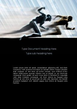 Running Athletes Word Template, Cover Page, 08386, Sports — PoweredTemplate.com
