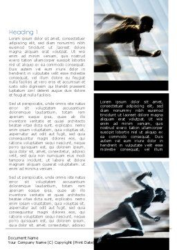 Running Athletes Word Template, First Inner Page, 08386, Sports — PoweredTemplate.com