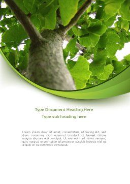 Tree Growth Word Template, Cover Page, 08387, Nature & Environment — PoweredTemplate.com