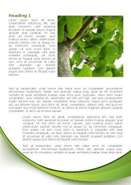 Tree Growth Word Template, First Inner Page, 08387, Nature & Environment — PoweredTemplate.com