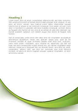 Tree Growth Word Template, Second Inner Page, 08387, Nature & Environment — PoweredTemplate.com