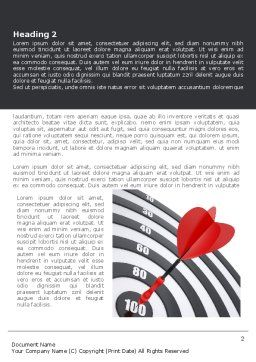 Bullseye Word Template, First Inner Page, 08389, Consulting — PoweredTemplate.com