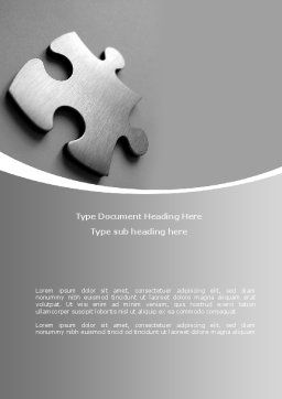 Steel Jigsaw Word Template, Cover Page, 08390, Consulting — PoweredTemplate.com