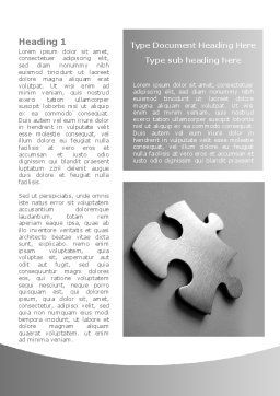 Steel Jigsaw Word Template, First Inner Page, 08390, Consulting — PoweredTemplate.com
