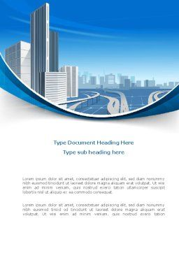 City Paysage Word Template, Cover Page, 08391, Construction — PoweredTemplate.com