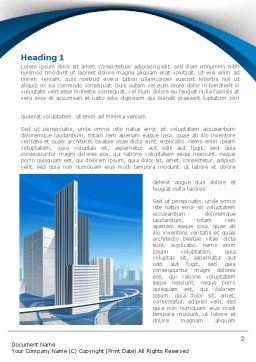 City Paysage Word Template, First Inner Page, 08391, Construction — PoweredTemplate.com
