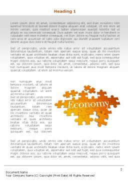 Economy Puzzle Word Template, First Inner Page, 08393, Financial/Accounting — PoweredTemplate.com