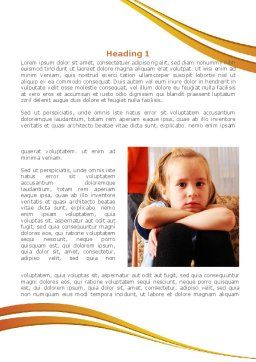 Family Quarrel Word Template, First Inner Page, 08394, People — PoweredTemplate.com