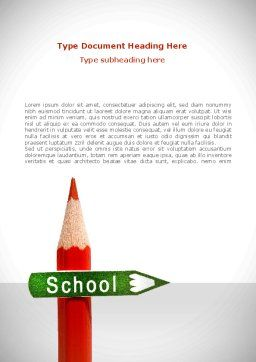 School Sign Word Template, Cover Page, 08395, Education & Training — PoweredTemplate.com