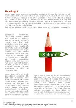 School Sign Word Template, First Inner Page, 08395, Education & Training — PoweredTemplate.com