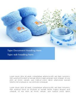 Little Blue Slippers Word Template, Cover Page, 08397, Education & Training — PoweredTemplate.com