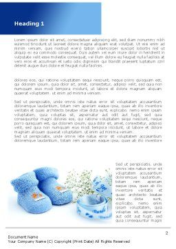 Little Blue Slippers Word Template, First Inner Page, 08397, Education & Training — PoweredTemplate.com