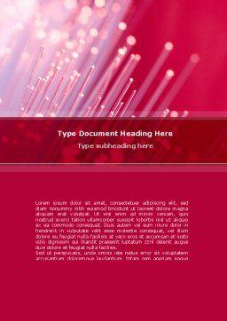 Optical Fiber Communication Lines Word Template, Cover Page, 08398, Telecommunication — PoweredTemplate.com
