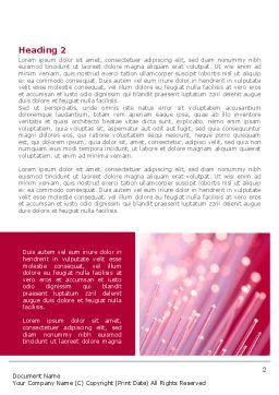 Optical Fiber Communication Lines Word Template, First Inner Page, 08398, Telecommunication — PoweredTemplate.com