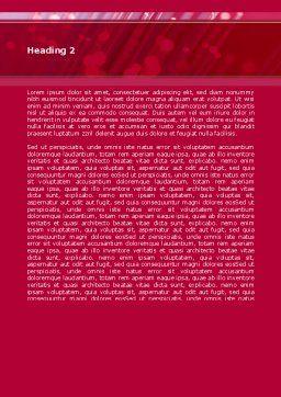 Optical Fiber Communication Lines Word Template, Second Inner Page, 08398, Telecommunication — PoweredTemplate.com