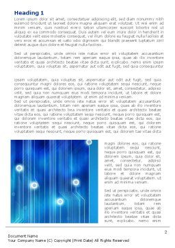Blue Circuit Word Template, First Inner Page, 08400, Technology, Science & Computers — PoweredTemplate.com