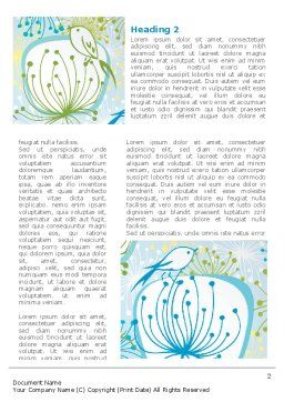 Flowers and Birds Word Template, First Inner Page, 08401, Nature & Environment — PoweredTemplate.com