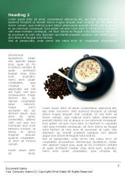 Coffee Cup With Coffee Beans Around Word Template, First Inner Page, 08402, Food & Beverage — PoweredTemplate.com