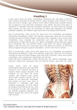 Vertebrae Word Template, First Inner Page, 08404, Medical — PoweredTemplate.com