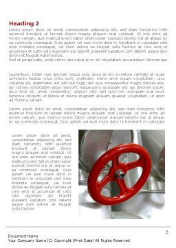 Gas Pipe Tap Word Template, First Inner Page, 08406, Utilities/Industrial — PoweredTemplate.com