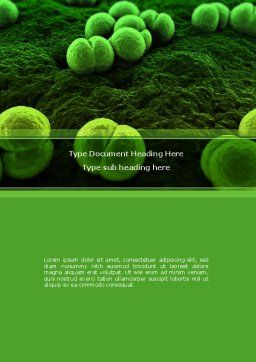 Meningococcus Word Template, Cover Page, 08407, Medical — PoweredTemplate.com