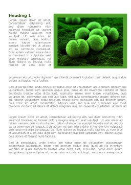 Meningococcus Word Template, First Inner Page, 08407, Medical — PoweredTemplate.com