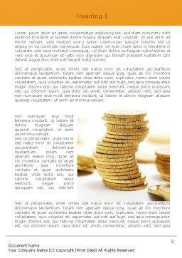 Coin Stack Word Template, First Inner Page, 08410, Financial/Accounting — PoweredTemplate.com