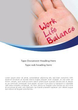 Work-Life Balance Word Template, Cover Page, 08411, Consulting — PoweredTemplate.com