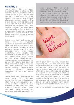 Work-Life Balance Word Template, First Inner Page, 08411, Consulting — PoweredTemplate.com