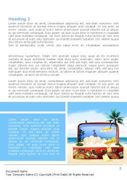 Vacation Suitcase Word Template First Inner Page