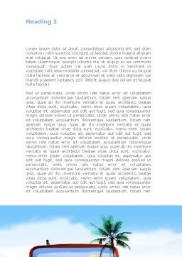 Vacation Suitcase Word Template, Second Inner Page, 08412, Careers/Industry — PoweredTemplate.com