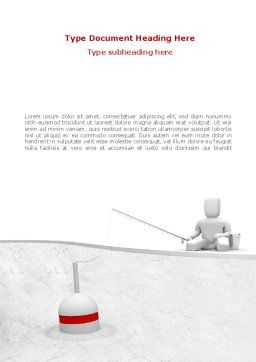 Fisherman Word Template, Cover Page, 08416, Consulting — PoweredTemplate.com