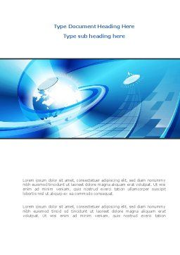 Business Companionship Word Template, Cover Page, 08417, Telecommunication — PoweredTemplate.com
