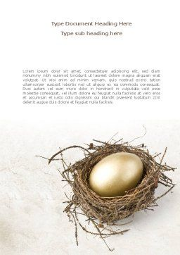 Golden Egg Word Template, Cover Page, 08418, Business Concepts — PoweredTemplate.com