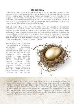 Golden Egg Word Template, First Inner Page, 08418, Business Concepts — PoweredTemplate.com