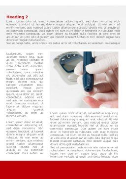 Blood Test Result Word Template, First Inner Page, 08419, Medical — PoweredTemplate.com