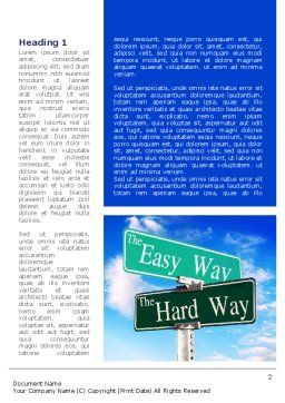 Easy or Hard Way Word Template, First Inner Page, 08420, Consulting — PoweredTemplate.com