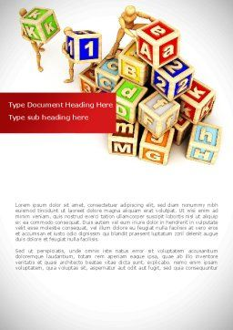 Toy Blocks Word Template, Cover Page, 08423, Business — PoweredTemplate.com