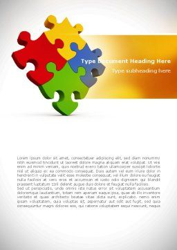 Colorful Puzzles Word Template, Cover Page, 08425, Consulting — PoweredTemplate.com