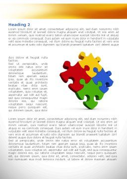 Colorful Puzzles Word Template, First Inner Page, 08425, Consulting — PoweredTemplate.com
