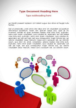 Communication Area Word Template, Cover Page, 08426, Telecommunication — PoweredTemplate.com