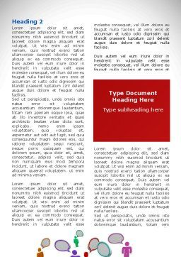 Communication Area Word Template, First Inner Page, 08426, Telecommunication — PoweredTemplate.com