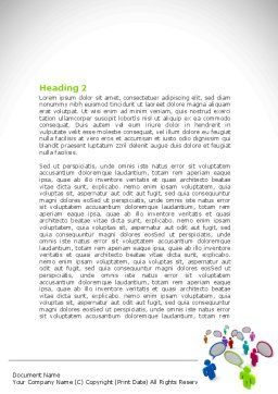 Communication Area Word Template, Second Inner Page, 08426, Telecommunication — PoweredTemplate.com
