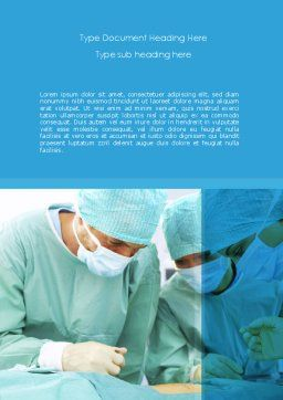 Surgery Internship Word Template, Cover Page, 08427, Medical — PoweredTemplate.com
