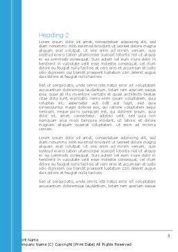 Surgery Internship Word Template, Second Inner Page, 08427, Medical — PoweredTemplate.com