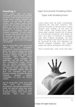Reach for Hope Word Template, First Inner Page, 08431, Religious/Spiritual — PoweredTemplate.com