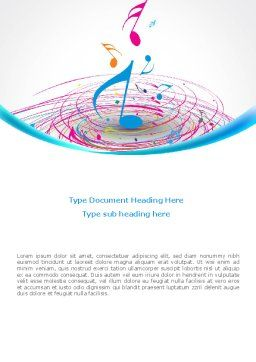 Music Swirl Word Template Cover Page