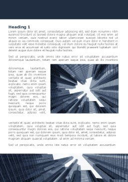 Urban Civilization In Gray Colors Word Template, First Inner Page, 08433, Construction — PoweredTemplate.com
